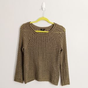 3/$25 H&M Olive Army Green Cable Knit Sweater